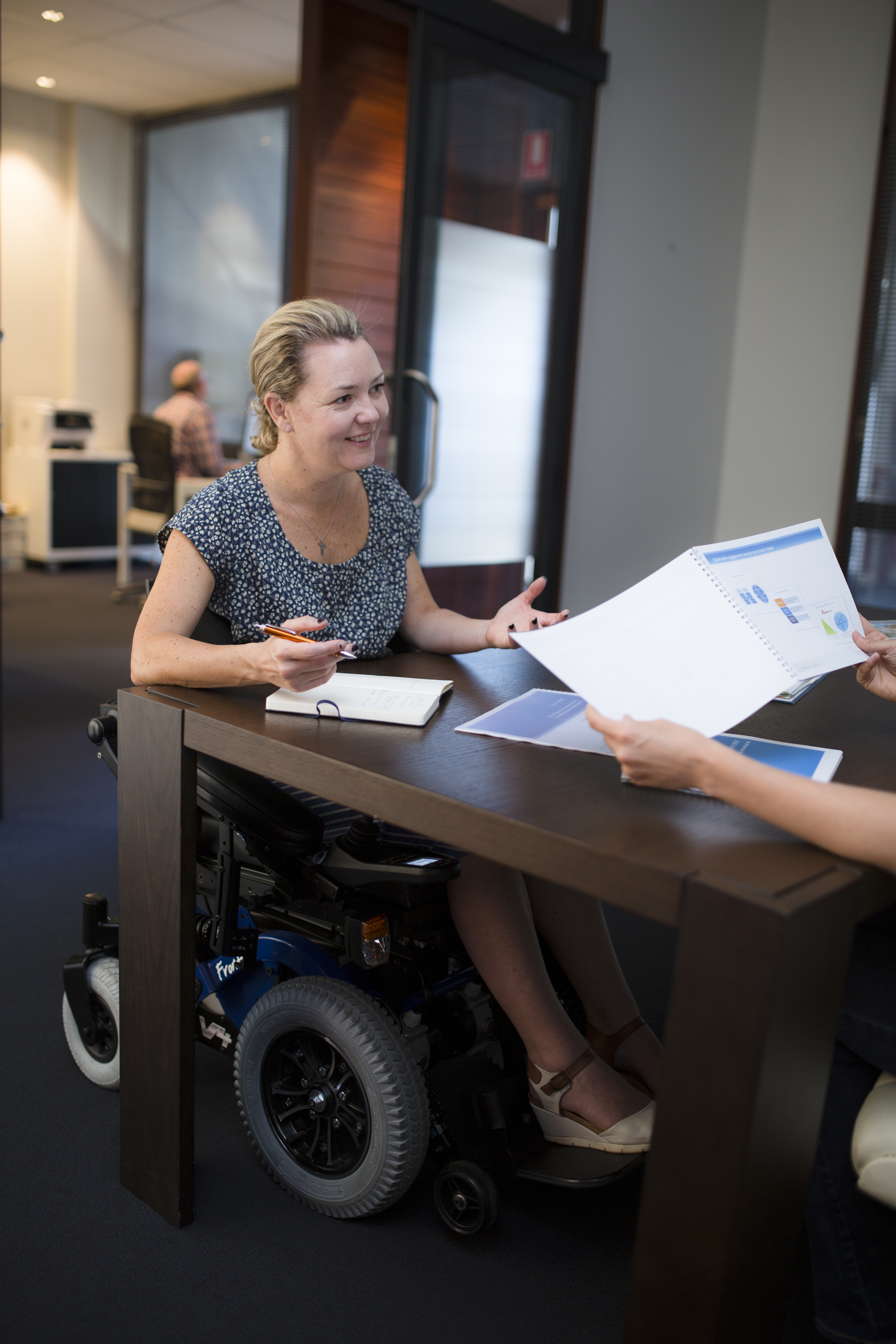 Get down to work in your Magic Mobility powerchair  Magic