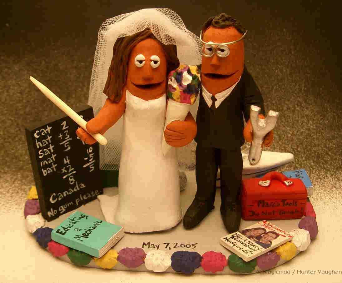 Mechanics Wedding Cake Topper