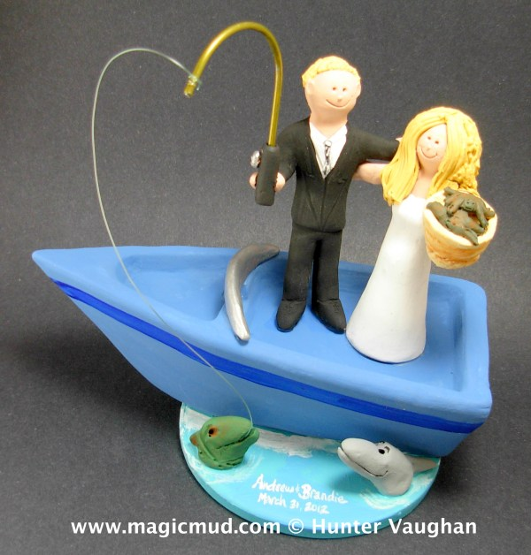 Boating Wedding Cake Toppers