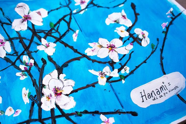 art journal . flowers, hanami, sennlier watercolour
