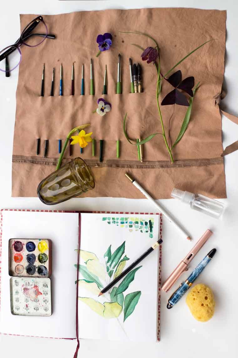 watercolor . paintbrush.