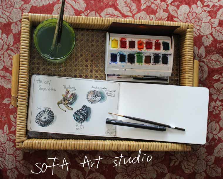 Art studio on your sofa