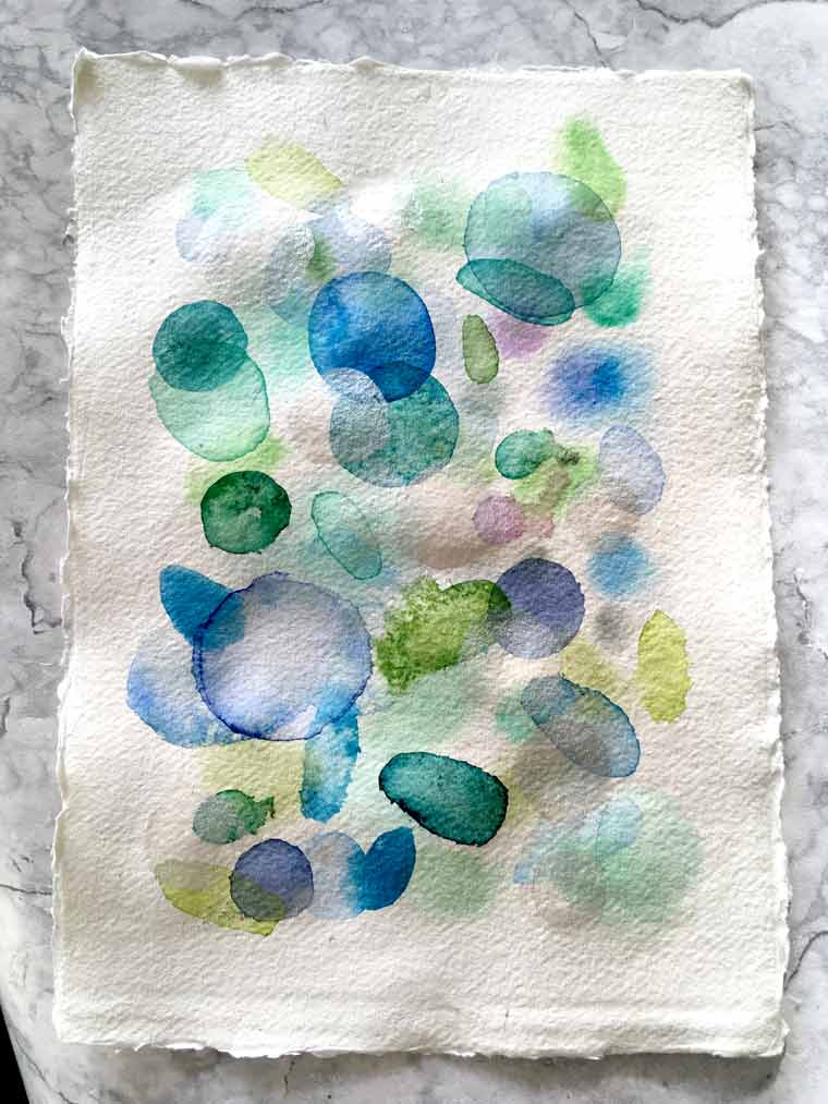 KHADI WHITE watercolor paper 320G ROUGH. How to paint an abstract painting