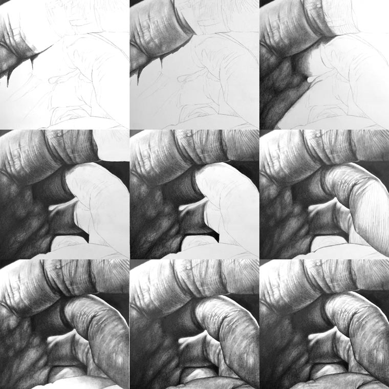 Drawing step by step,