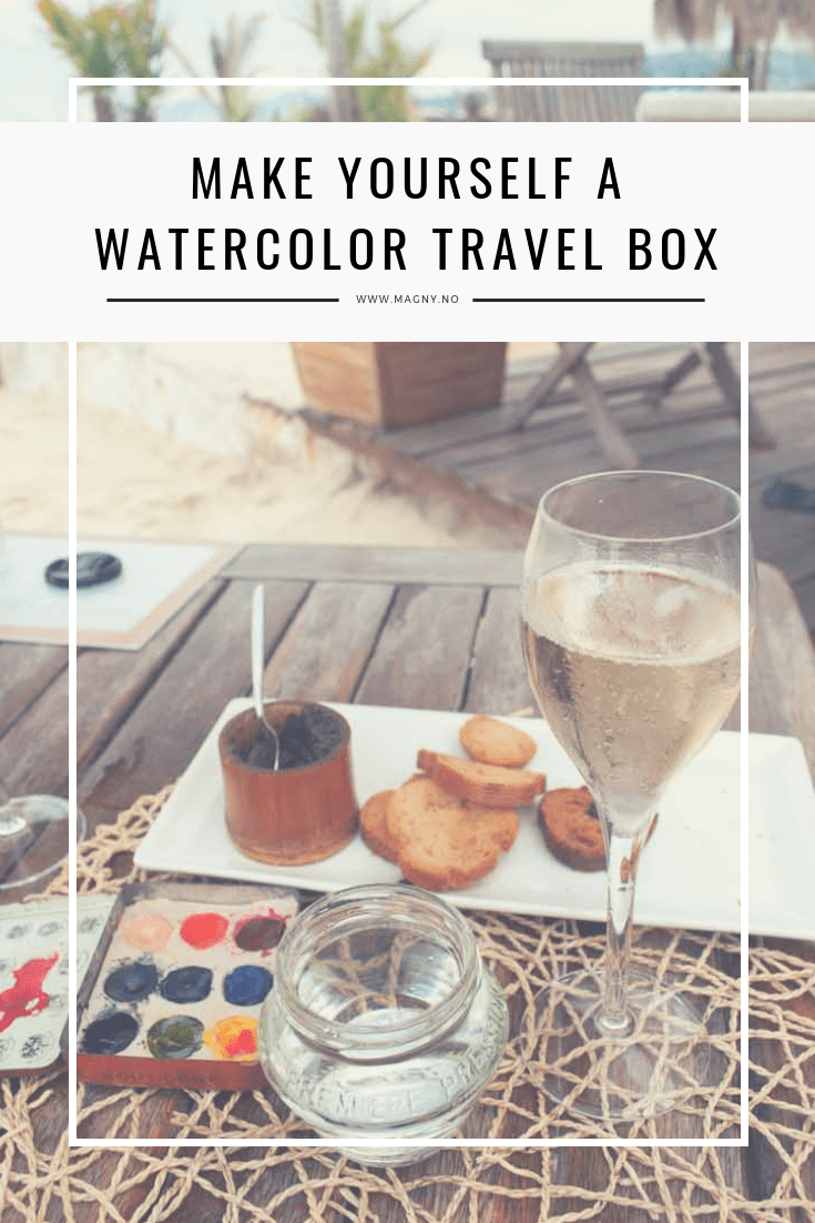 DIY watercolor tin box. make your own cool little travel paint box using any small empty tin
