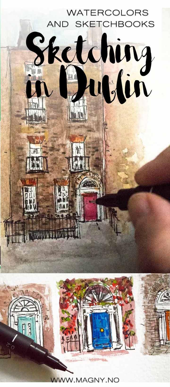 Irland travel, Travel sketchbook journal