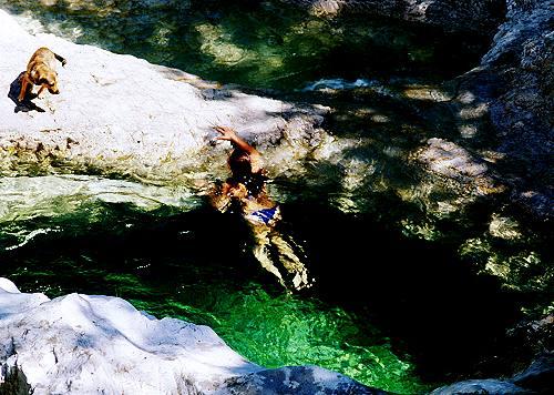 Cadini del Brenton in Valle di Mis nel Parco Nazionale Dolomiti Bellunesi a Sospirolo cascate