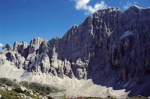 Dolomiti Civetta Moiazze e le grandi pareti dolomitiche escursione da Capanna Trieste rif Vazzoler al Pian di Pelsa Valcivetta rif Tissi