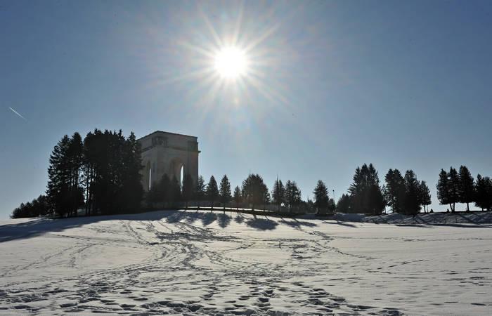 Sacrario Militare Leiten di Asiago museo ossario monumentale della grande guerra ad Asiago Altopiano Sette Comuni contrada Zocchi colle Laiten
