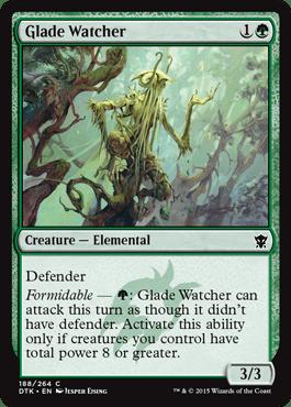 Glade Watcher From Dragons Of Tarkir Spoiler