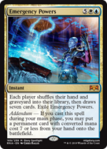 Emergency Powers - Ravnica Allegiance Spoiler