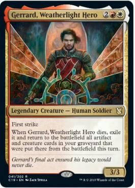 Gerrard Weatherlight Hero From Commander 2019 Spoiler