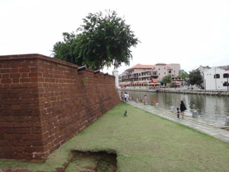 ruins and river Melaka
