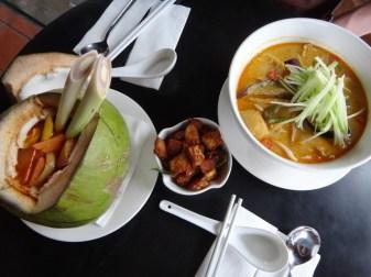 a fancy meal in Melaka