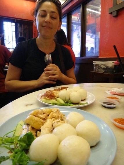 chicken rice balls in Melaka