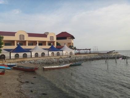 fishing boats near the Portuguese square Melaka