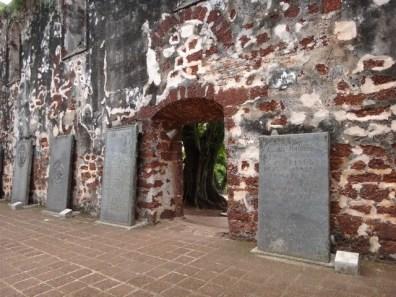 gravestones inside St Pauls