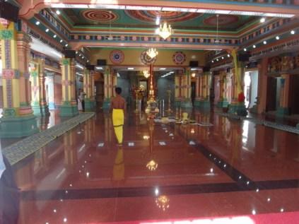 inside a Hindu temple in Kuala Lumpur