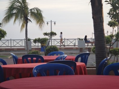 the view from Portuguese square Melaka