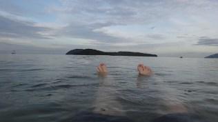Floating in the beach at Pantai Cenang, Langkawi, Malaysia