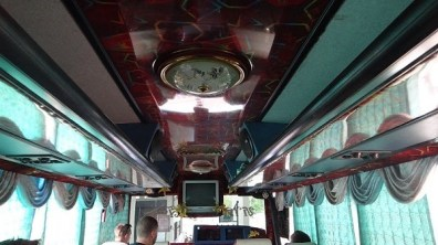 Ooooh look at the ceiling of our local bus to Hat Yai from Satun