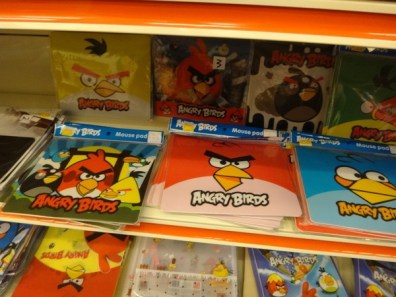 angry birds mouse pads