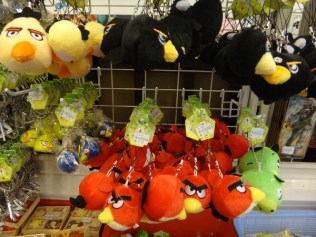 angry birds on a string