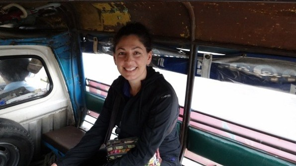 The songteaw to the hotel