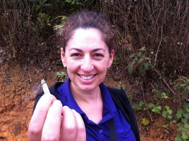 Hintang Archeological Park - Tanya Smoking A Home Grown Tobacco Rollie... Maybe...