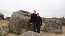 Phonsavan - Plain of Jars Site I - Tanya and Andrew and the Jars