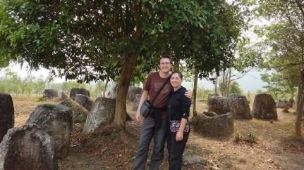 Phonsavan - Plain of Jars Site III - Tanya and Andrew and other Jars