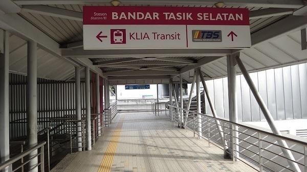Bandar Tasik Selatan Station Sign - KLIA, TBS, KTM Train Station