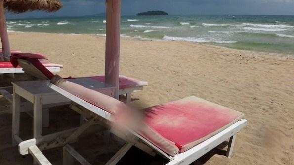 Otres Beach, Sihanoukville - Deck Chairs and Beach