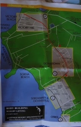The Beaches Of Sihanoukville, Cambodia - Map