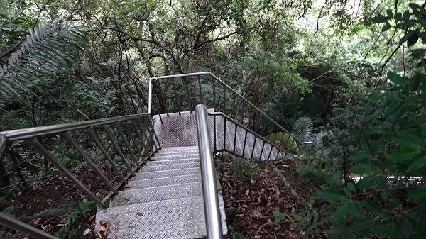 Climbing Metal Stairs, Keelung, Taiwan