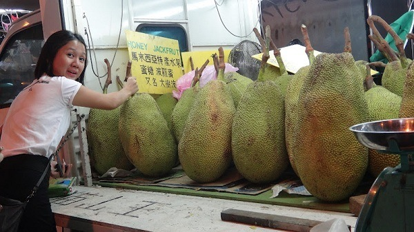 Our Guide Michelle with Giant Honey Jackfruit