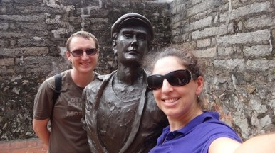 Us and Some Dude At Fort San Domingo
