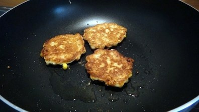 The Corn Fritters Turned Over After Cooking For Two To Three Minutes On Each Side