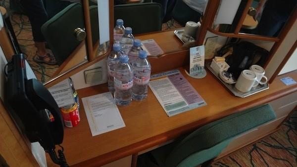 Oceanview Stateroom - Desk Area, Mini Bar and TV