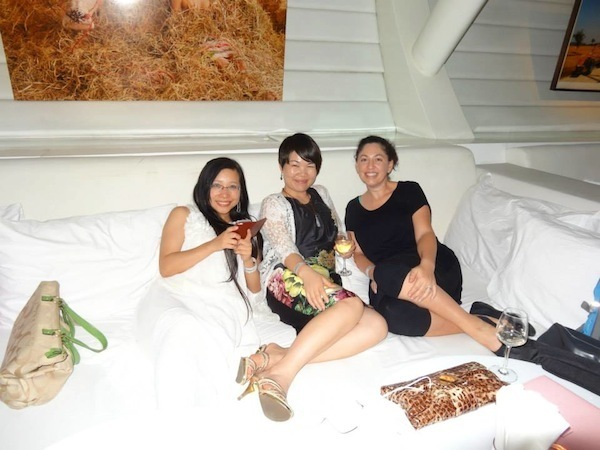 The Girls Relaxing At Bed SupperClub (Thanks DIA FB For Pic)