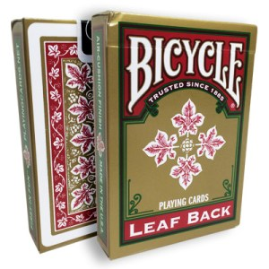 Bicycle Leaf Back Deck (Red) by Gambler's Warehouse