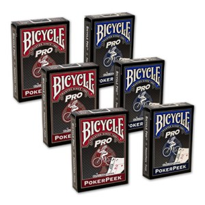 Cards Bicycle Pro Poker Peek - 6 PACK (Mixed) USPCC
