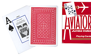 Cards Aviator Poker size (Red)