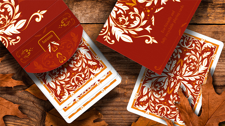 Leaves Autumn Edition Collector's Box Set Playing Cards by Dutch Card House Company