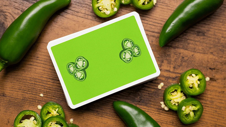 Gettin' Saucy - Jalapeno Pepper Playing Cards by OPC