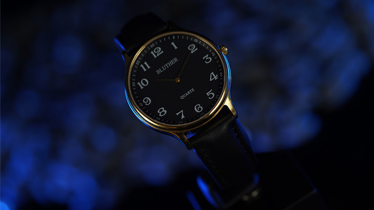 Infinity Watch V3 - Gold Case Black Dial / PEN Version (Gimmick and Online Instructions) by Bluether Magic