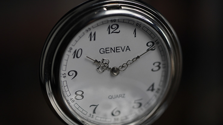 Infinity Pocket Watch V3 - Silver Case White Dial / STD Version (Gimmick and Online Instructions) by Bluether Magic