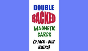 Magnetic Cards (2 pack/Blue Jokers) by Chazpro Magic