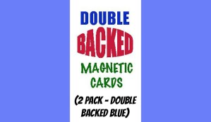 Magnetic Cards (2 pack/double back blue) by Chazpro Magic.