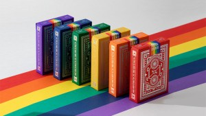 DKNG Rainbow Wheels (Green) Playing Cards by Art of Play
